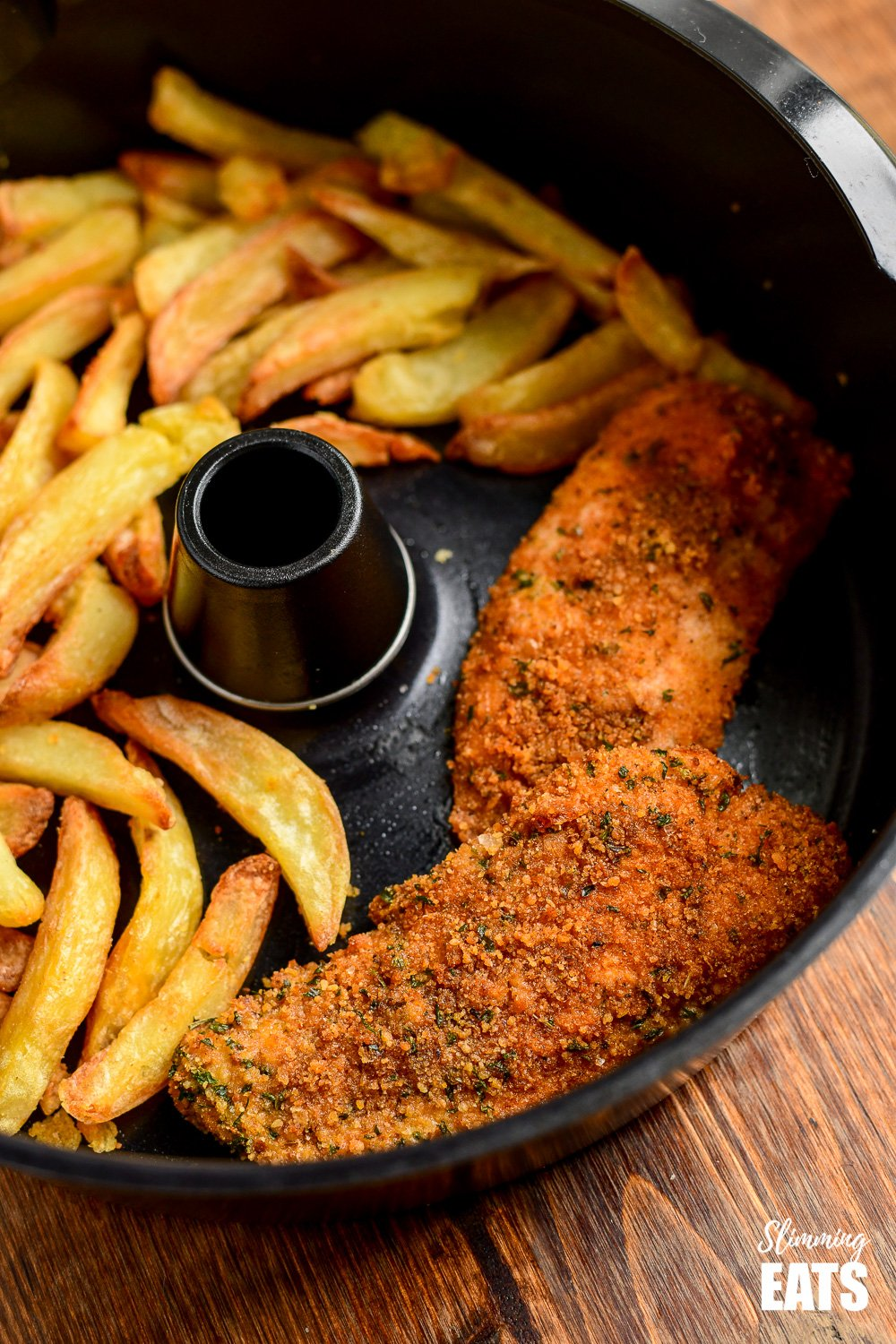 ACTIFRY FISH AND CHIPS IN PAN