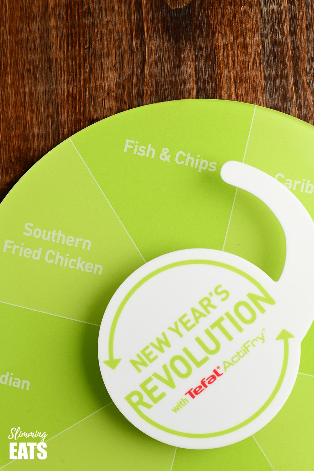 picture of Tefal Actifry fish and chips New Years revolution spinner board