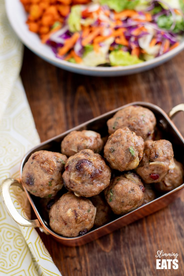 Low Syn Cranberry Almond Chicken Meatballs
