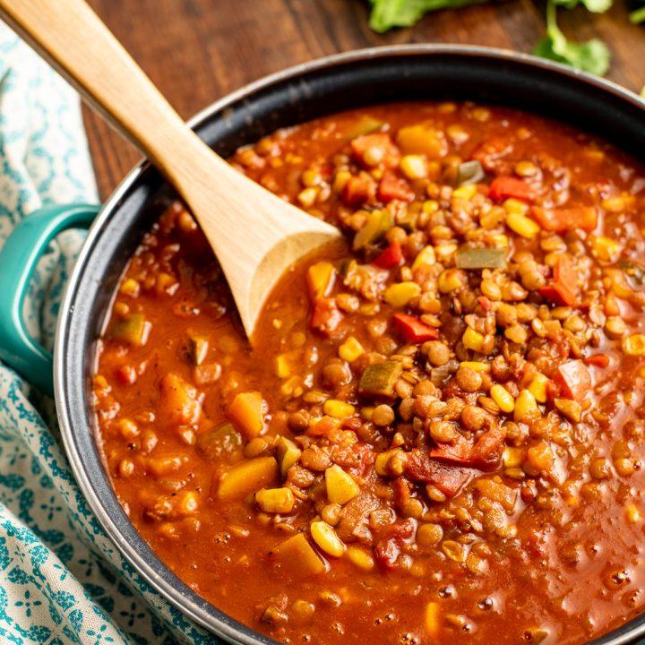 Taco Lentil Soup (Instant Pot or Stove Top)