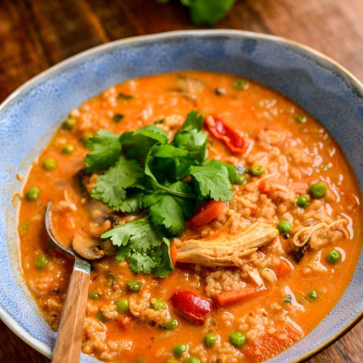 Instant Pot Thai Chicken Rice Soup
