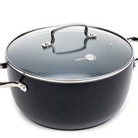 Green Pan Casserole / Aluminium non-stick casserole with glass lid / Ø 24 cm / 4.6 L / Suited for every hob type except induction / Dishwasher safe