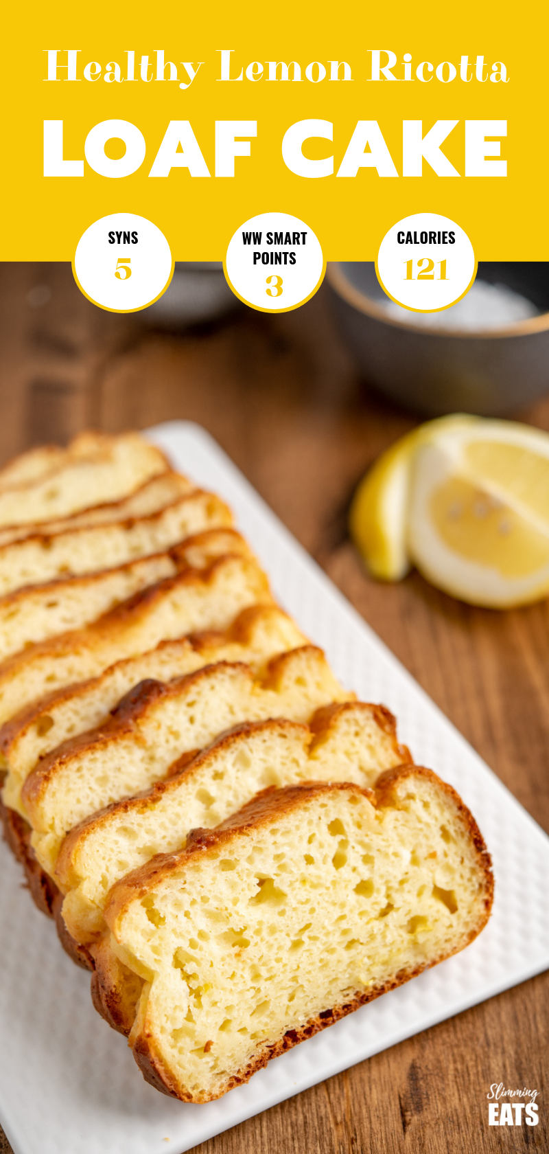 lemon loaf cake pin image