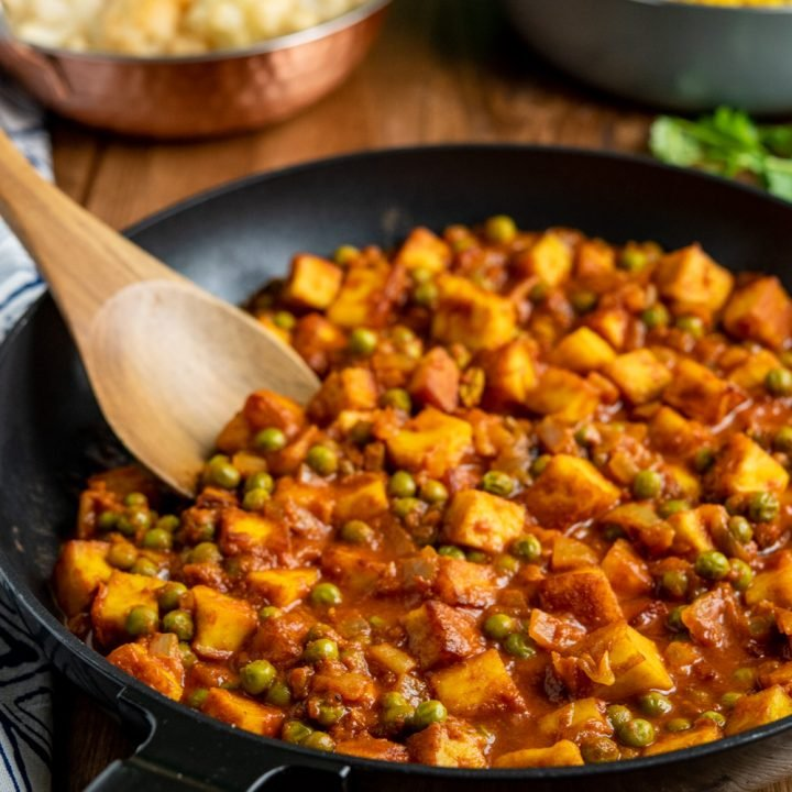 Healthy Matar Paneer Curry