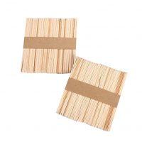 VABNEER 100 pcs Wooden Lolly Sticks, Natural Lollipop Sticks for Ice or Cake Pops & Kids Crafts Models, 114 x 10 x 2 mm