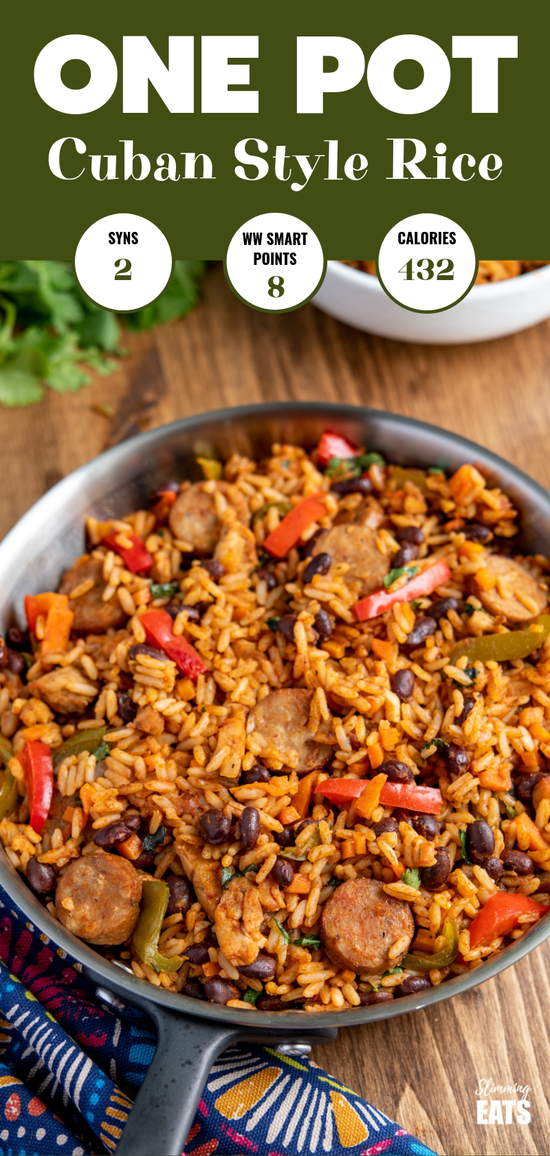 One Pot Cuban Style Rice with chicken and sausage pin image