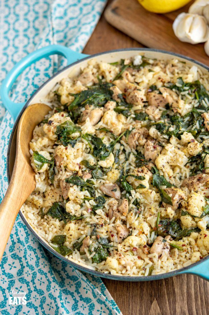 One Pot Lemon Garlic Chicken Rice