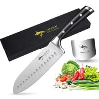 Santoku Knife-MAD SHARK Pro Kitchen Knife 7 Inch Santoku Knife,Best Quality German High Carbon Stainless Steel Knife with Ergonomic Handle,Ultra Sharp,Best Choice for Home Kitchen and Restaurant