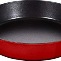 STAUB 40511-727-0 frying pan with two handles, cast iron, cherry red, 26 cm