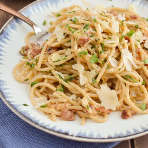 Best Ever Syn Free Spaghetti Carbonara