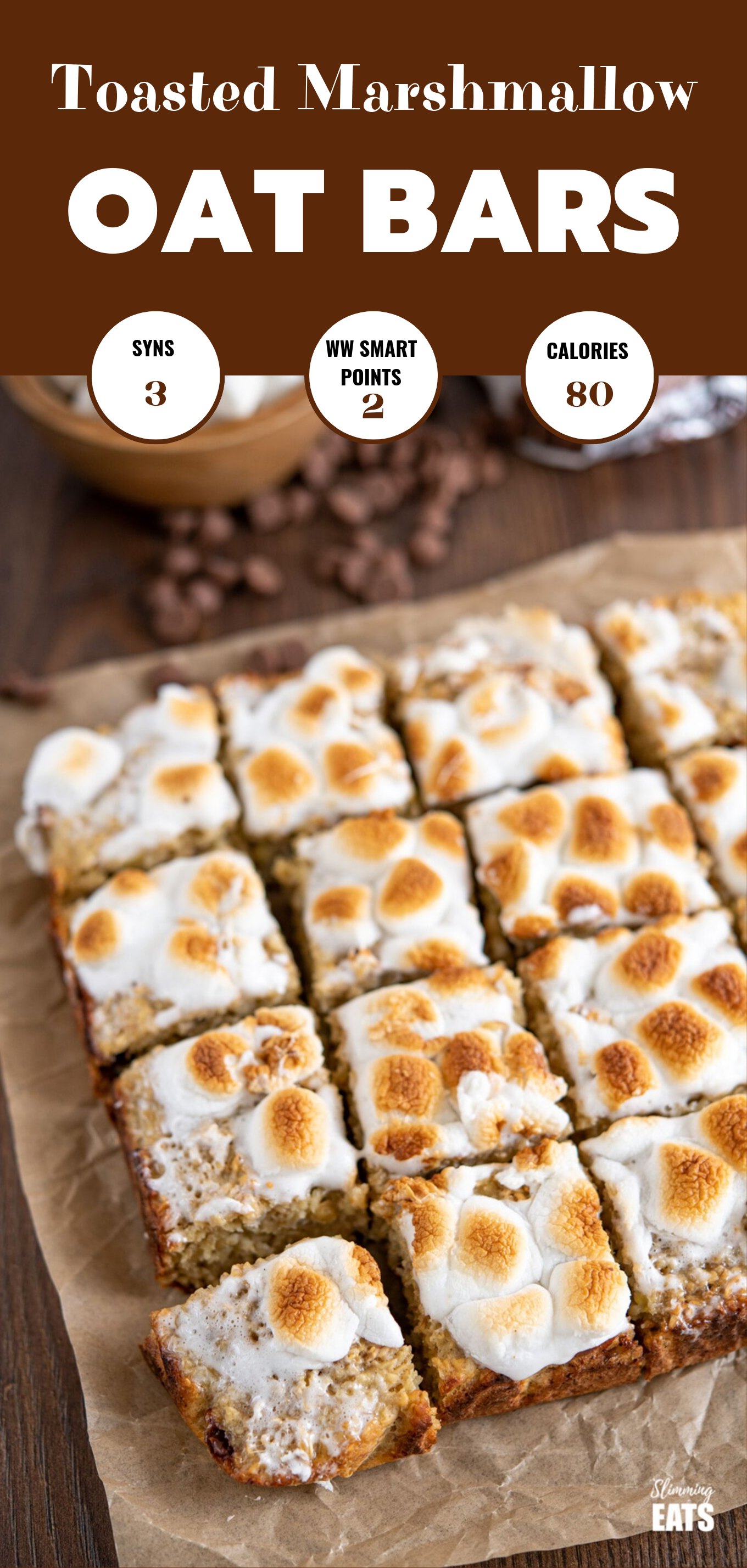 TOASTED MARSHMALLOW OAT BARS FEATURED PIN