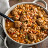 Easy Chicken Meatball Cassoulet