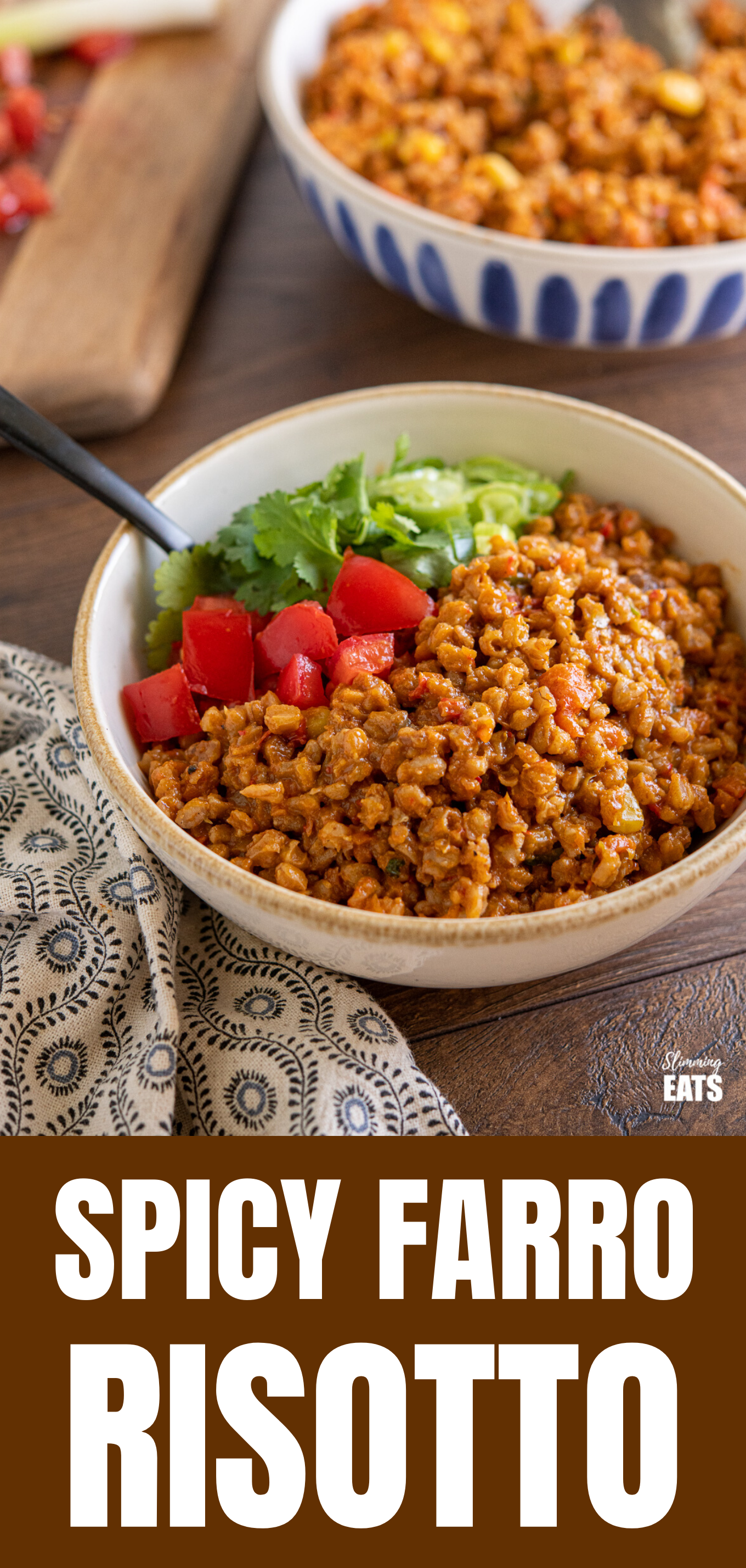 Spicy Farro Risotto Pinned Image