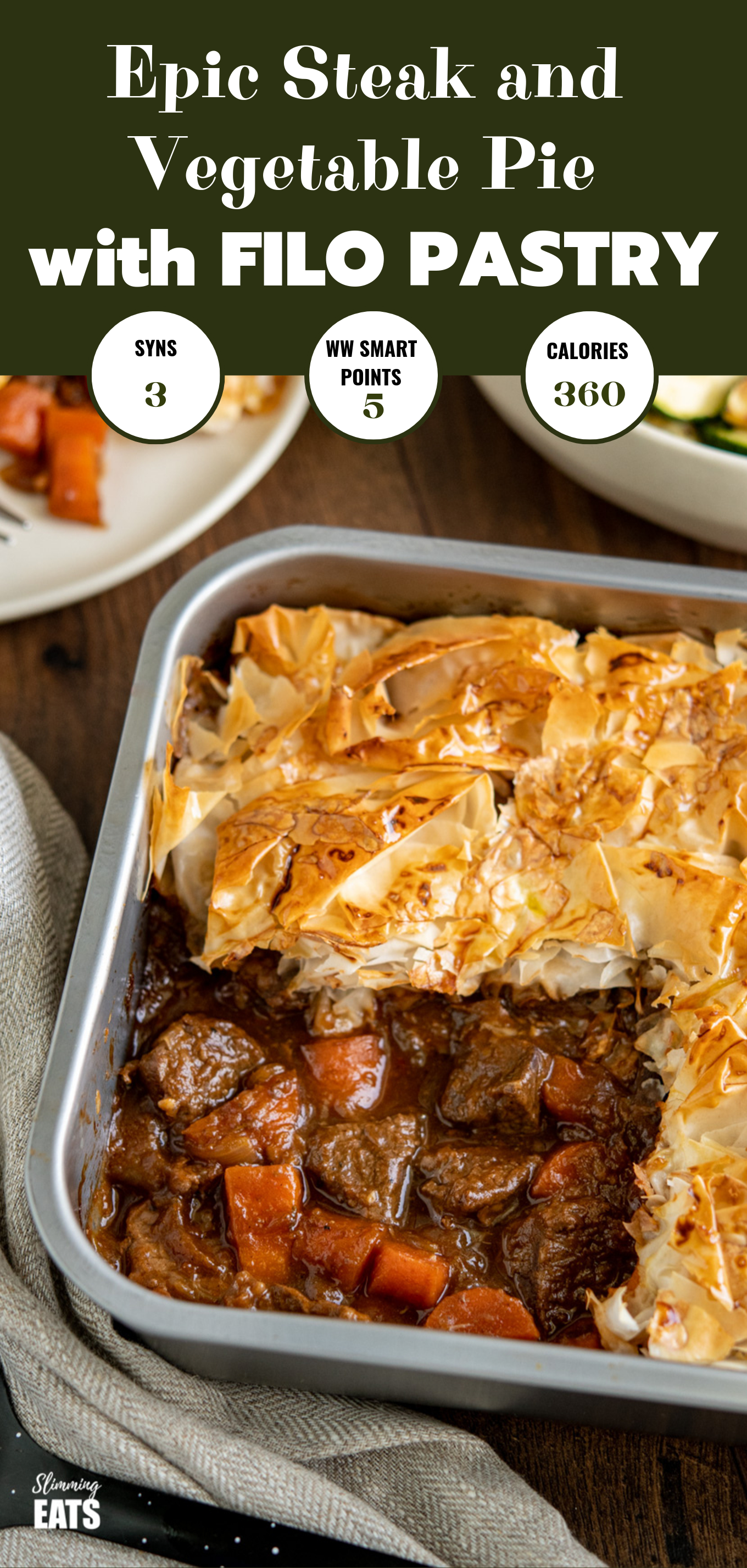 epic steak and vegetable pie featured pin image