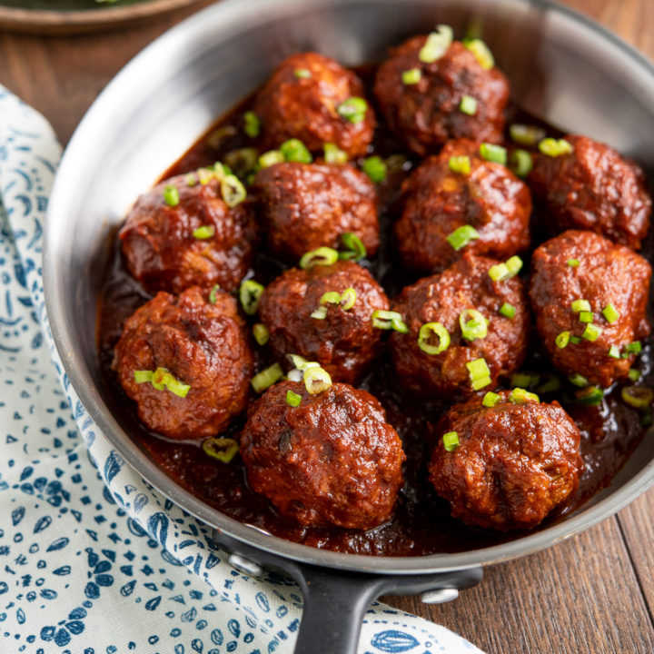 Honey and Garlic Chicken Meatballs (Instant Pot or Slow Cooker)