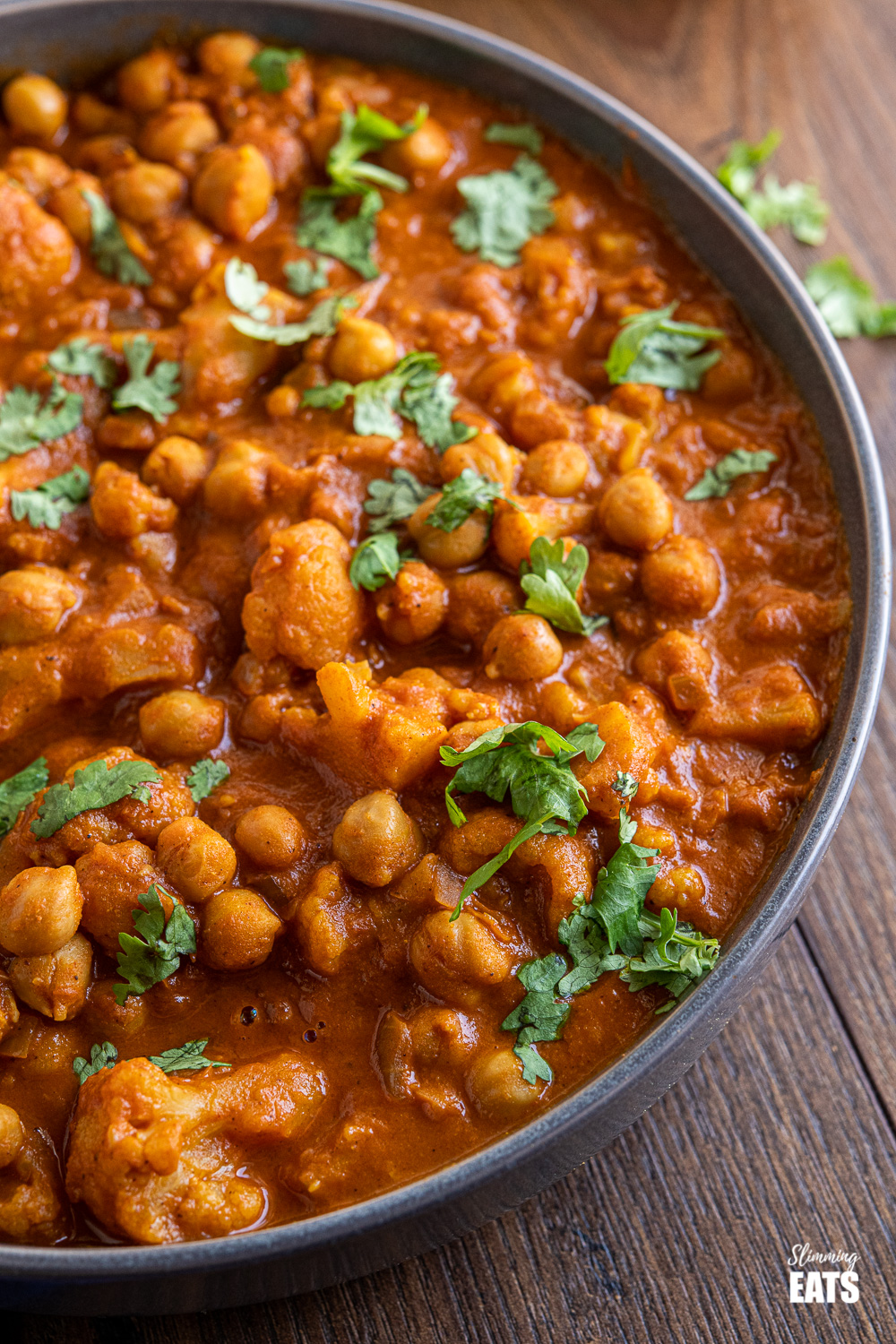 vegan tikka masala in grey bowl