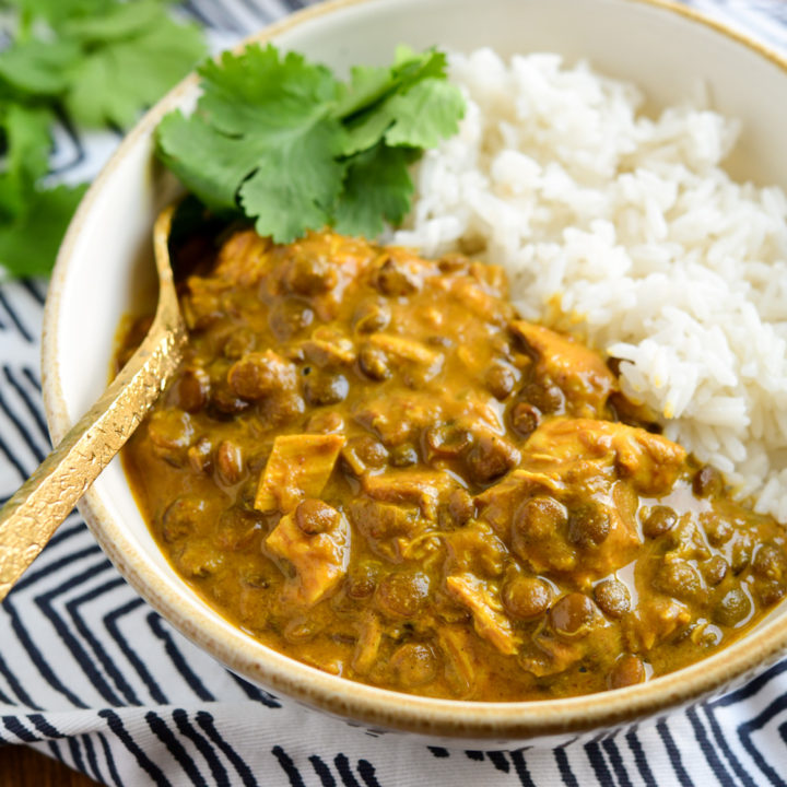 Coconut Chicken and Lentil Curry