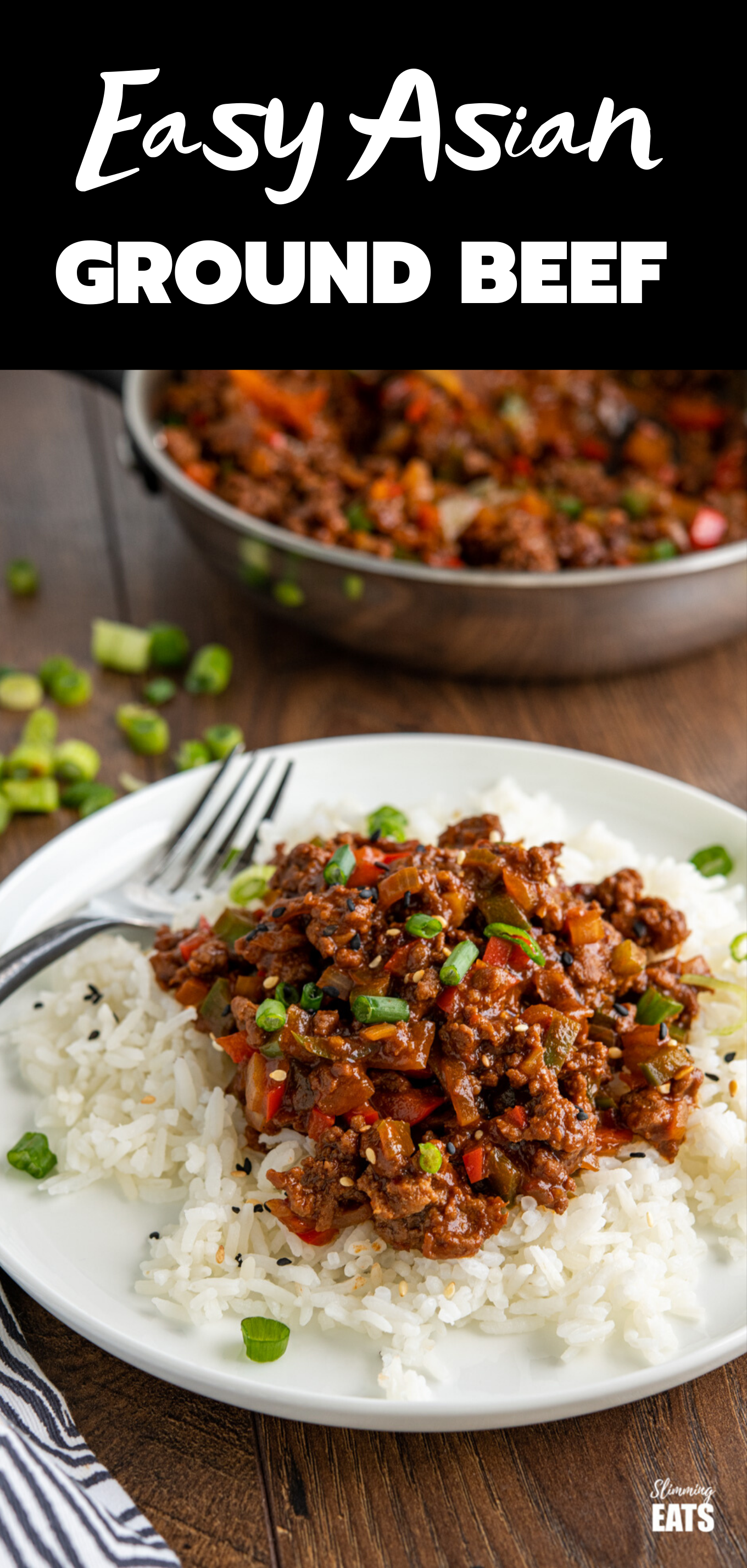 easy asian ground beef feature pin image