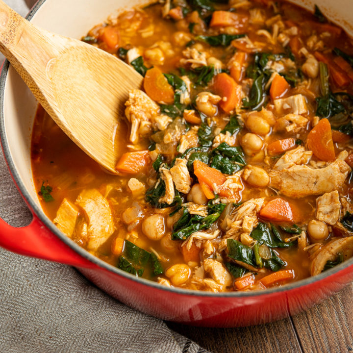 Chicken Chickpea Spinach Soup
