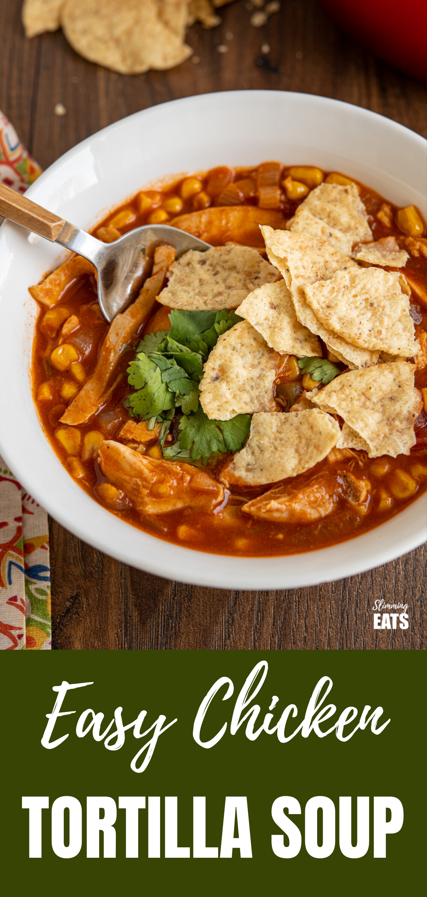 Easy Chicken Tortilla Soup featured pin image