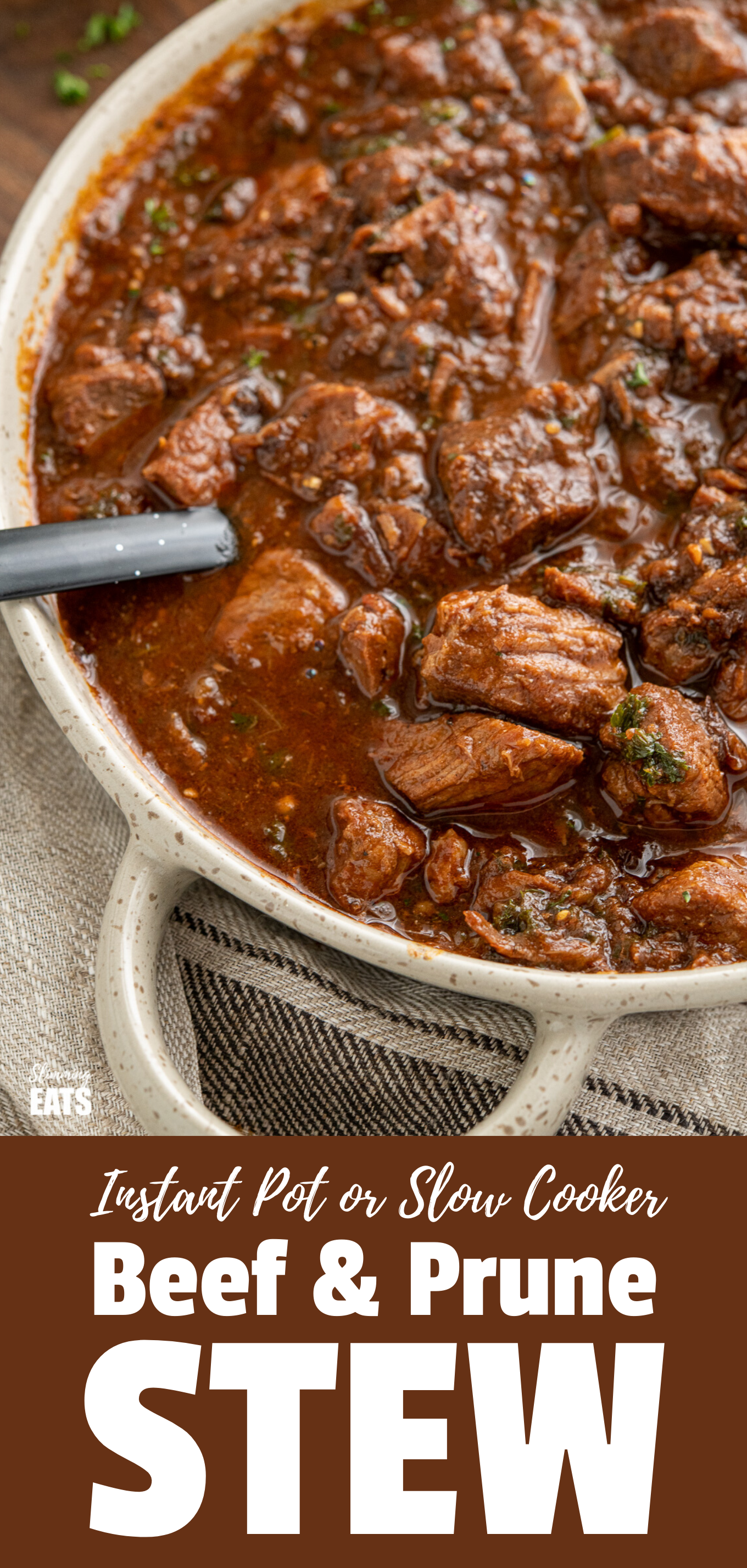Beef and Prune Stew featured pin image