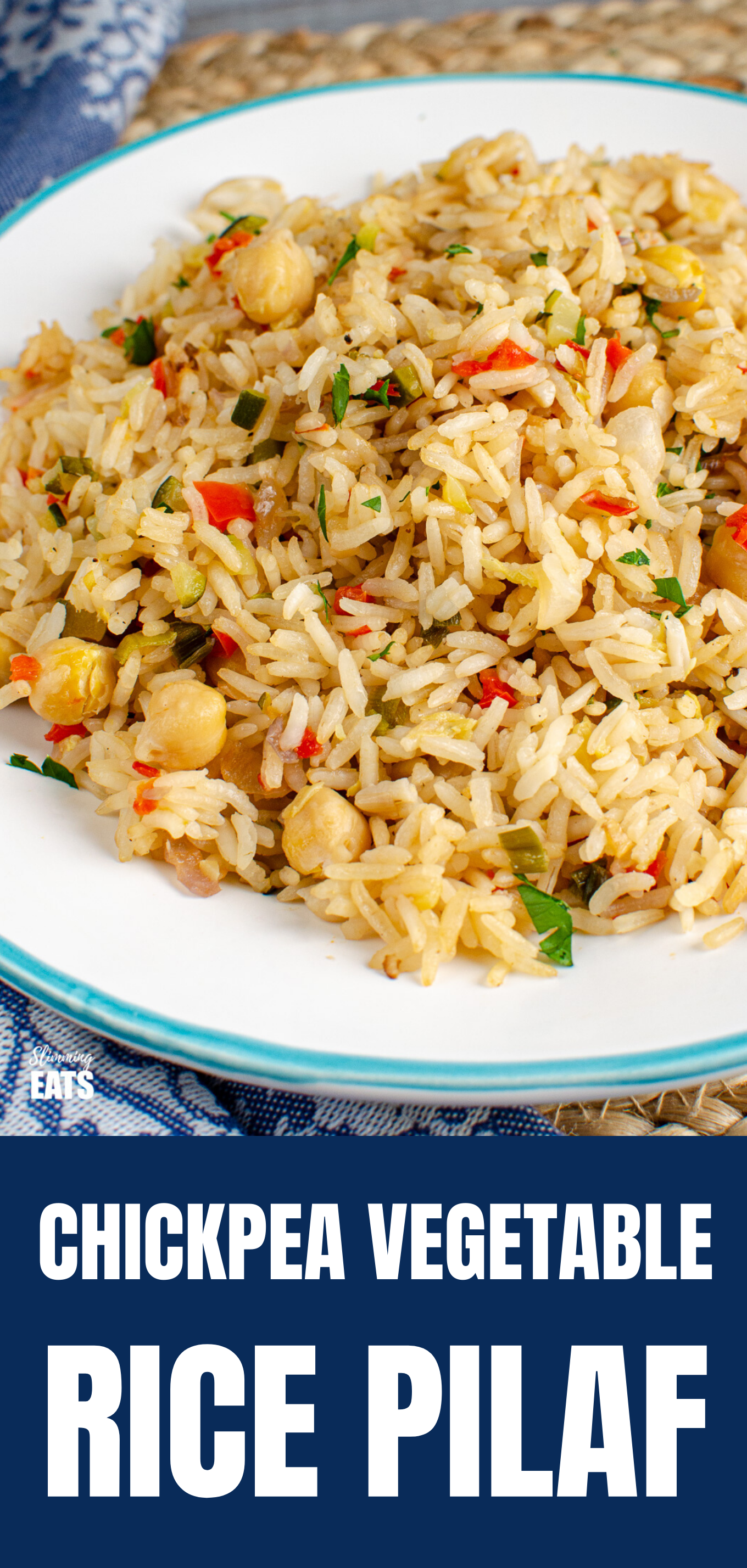 Chickpea Vegetable Rice Pilaf PIN IMAGE