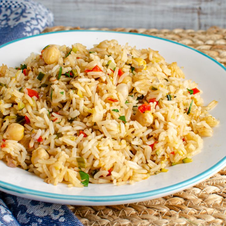 CHICKPEA VEGETABLE RICE PILAF