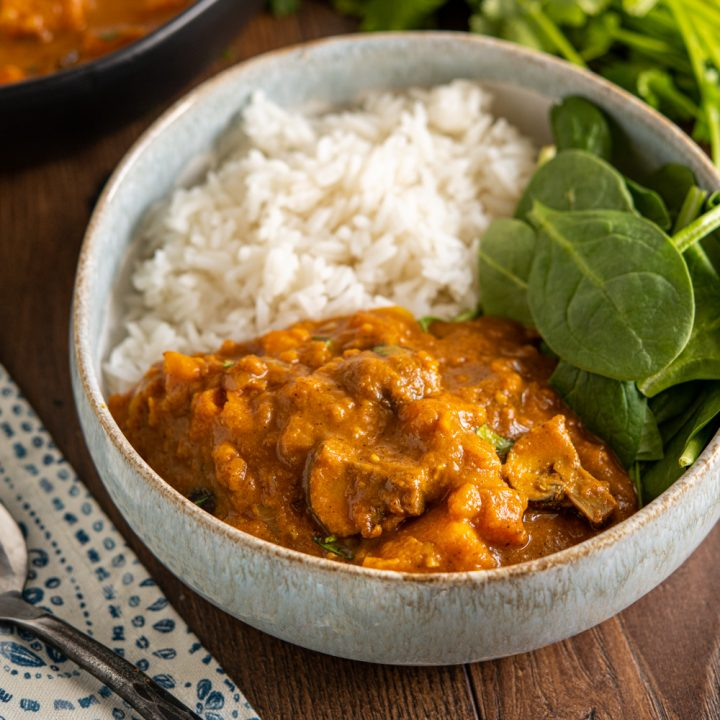 Sweet Potato and Mushroom Curry (Stove Top or Instant Pot)