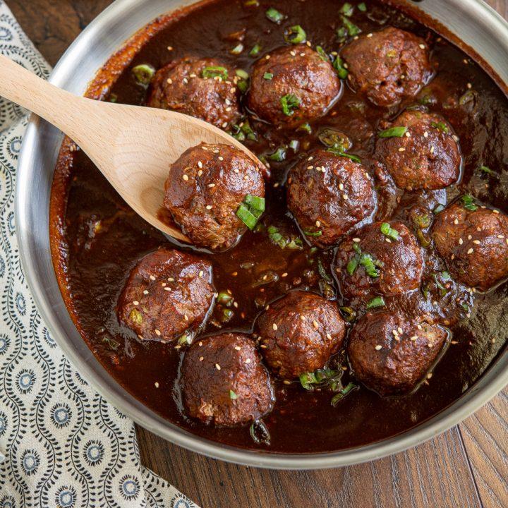 Saucy Asian Hidden Vegetable Beef Meatballs