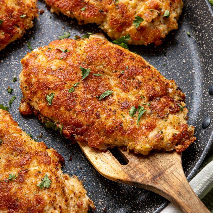 Golden Parmesan Crusted Chicken