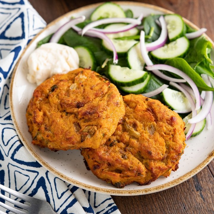 Tuna Sweet Potato Cheddar Patties