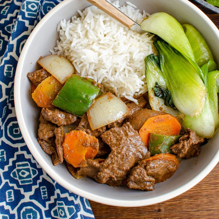 Satay Beef and Vegetables