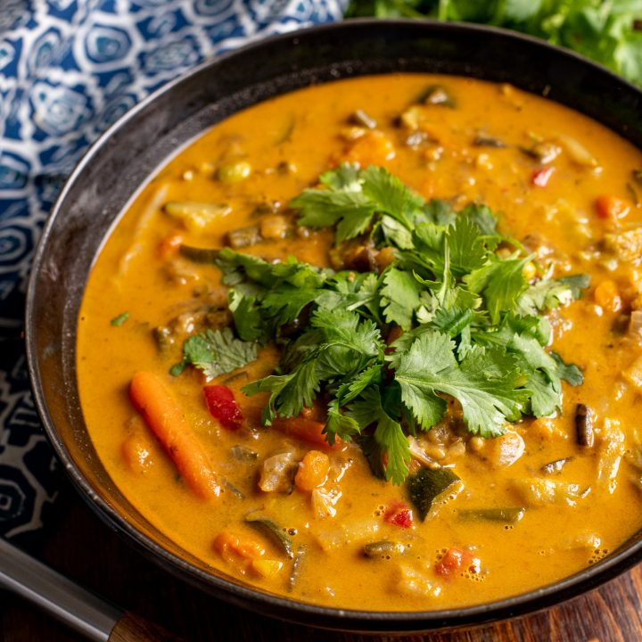 Thai Red Vegetable Soup (Instant Pot or Stove Top)