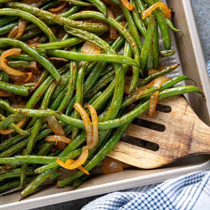 Roasted French Green Beans
