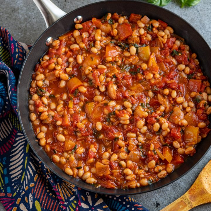 Mediterranean Tomatoes and White Beans