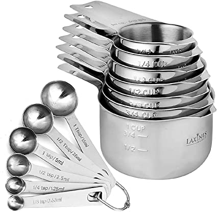 13 Piece Measuring Cups and Measuring Spoons Set